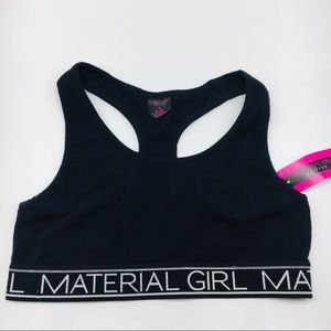 XL Material Girl Undercover Black Logo Sports Bra